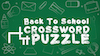 HM Media: Back To School Crossword Puzzle