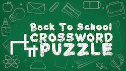 HM Media: Back To School Crossword Puzzle