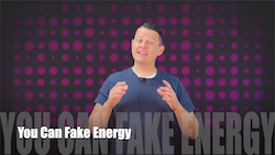 60 Second Teacher Tips with Philip Hahn: Video #08 - You Can Fake Energy
