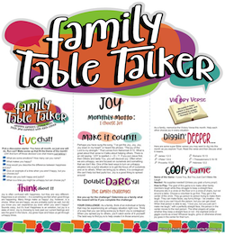 Family Table Talker #17 - Joy