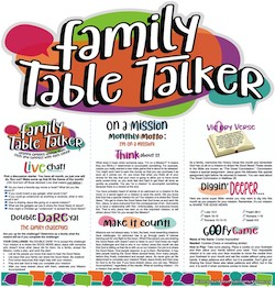 Family Table Talker #29 - On a Mission