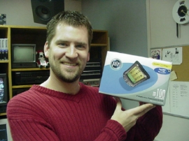 Brian Dollor WIns a Palm Pilot