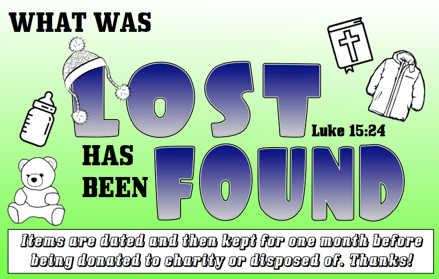 kidology lost and found sign