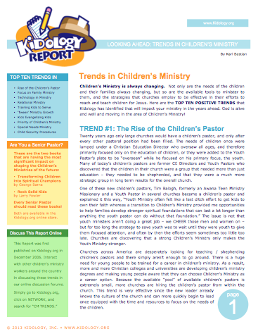 Kidology - Kidology Report: Looking Ahead - Trends in Children\'s ...