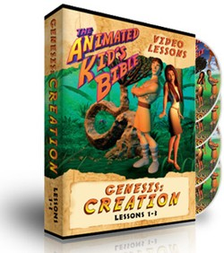 Animated Kids Bible Genesis: Creation Interactive Lessons 1-3