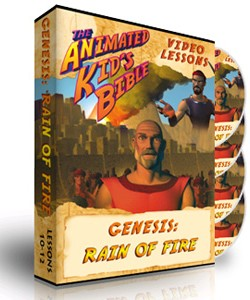 Animated Kids Bible Genesis: Rain of Fire Interactive Lessons 10-12