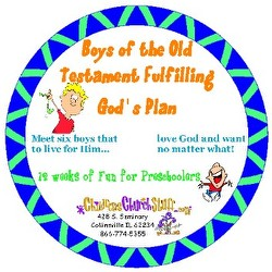 Childrens Church Stuff <i>Boys of the Old Testament Fulfilling God's Plan</i> Kids Church Curriculum - Preschool (Download)
