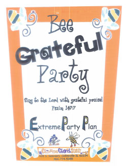 Childrens Church Stuff Bee Grateful Day Extreme Party Plan (Download)