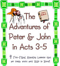 Childrens Church Stuff <i>Adventures of Peter and John</i> Curriculum (Download)