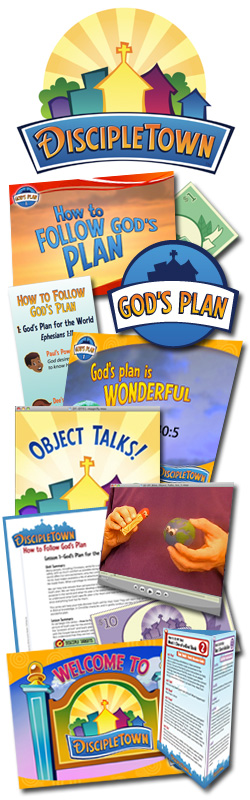 <i>DiscipleTown</i> Kids Church Unit #5: How to Follow God's Plan