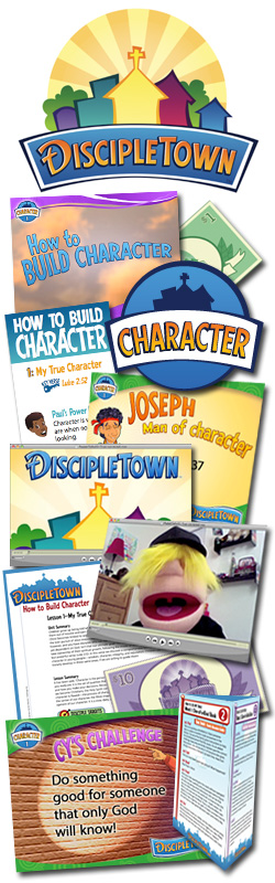 <i>DiscipleTown</i> Kids Church Unit #9: How to Build Character