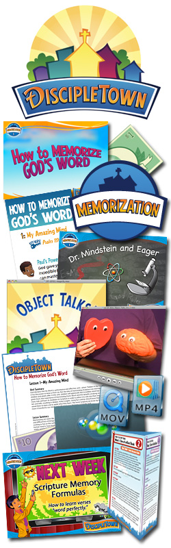 <i>DiscipleTown</i> Kids Church Unit #19: How to Memorize God's Word