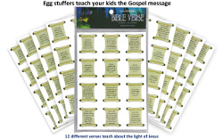 Egglo Bible Verse Stickers (96 pack)