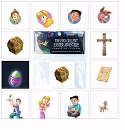 Egglo Easter Adventure Character Stickers
