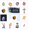 Egglo <i>Easter Adventure Character</i> Stickers 4-PK