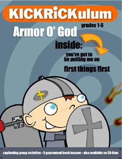 KICKRiCKulum <i>Armor O' God</i> Elementary Kids' Church Curriculum (Elementary Download)