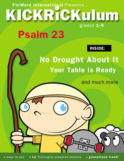KICKRiCKulum <i>Psalm 23</i> Kids' Church Curriculum (Elementary Download)