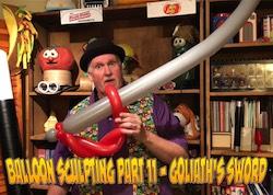 Balloon Sculpting with Pastor Brett - Part 11: Goliath's Sword