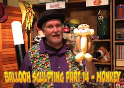Balloon Sculpting with Pastor Brett - Part 14: Monkey