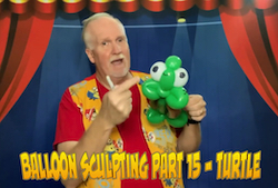 Balloon Sculpting with Pastor Brett - Part 15: Turtle