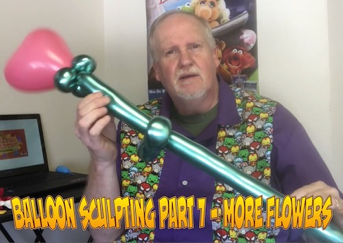 Balloon Sculpting with Pastor Brett - Part 07: More Flowers