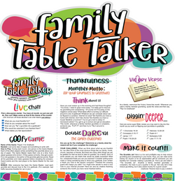 Family Table Talker #11 - Thankfulness