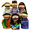 Puppets Inc. <i> Six Pupplet </i> Puppets