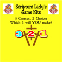 Scripture Lady <i> Three Crosses, Two Choices – Which One Will YOU Make?</i> Game