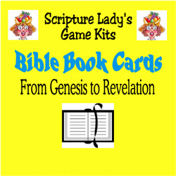 Scripture Lady  Bible Book Cards Game