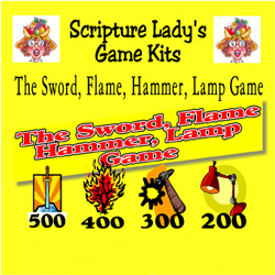 Scripture Lady <i> The Sword, Flame, Hammer, Lamp</i> Game