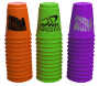 Speed Stacks <i>Jumbo Stack</i> 3 Set Pack - Orange, Purple and Green