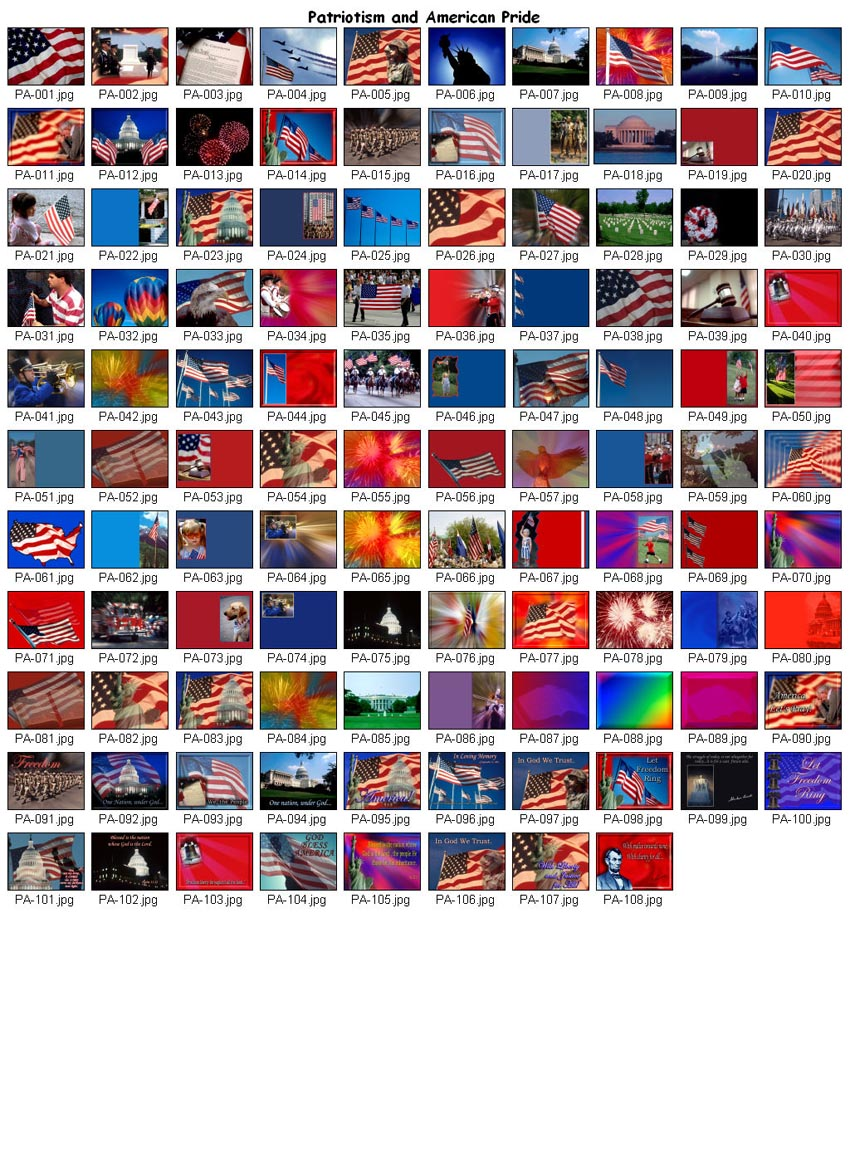 Worship Photos <i>Patriotism and American Pride</i> (Download Version)